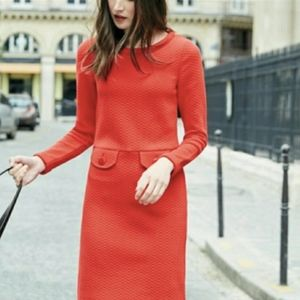 Boden Quilted Red Dress